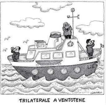 vignetta corriere.it trilaterale a ventotene 190816
