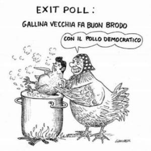 vignetta corriere.it exit pollo 061117