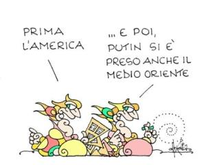vignetta repubblica.it prima la Merica 121217