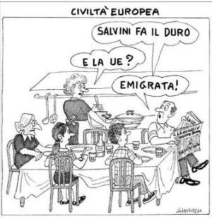 vignetta corriere.it civiltà europea 250818
