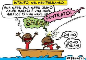 vignetta ilfattoquotidiano.it lanci in mare 010818
