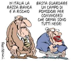 vignetta ilfattoquotidiano.it razza bianca 170118