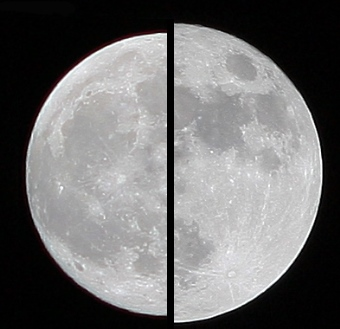 superluna comparazione