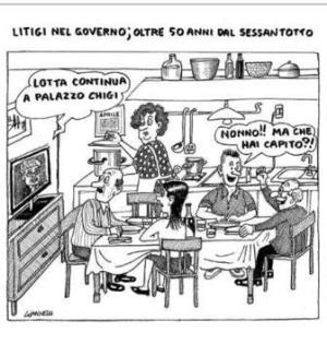 vignetta corriere.it Baruffe continue 230419