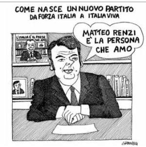 vignetta corriere.it Forza Italia viva 190919