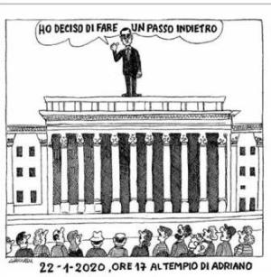 vignetta corriere.it Farsa continua 230120