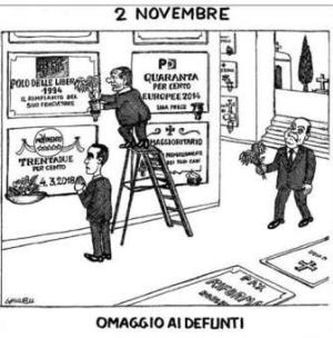 vignetta corriere.it Al cimitero 021119